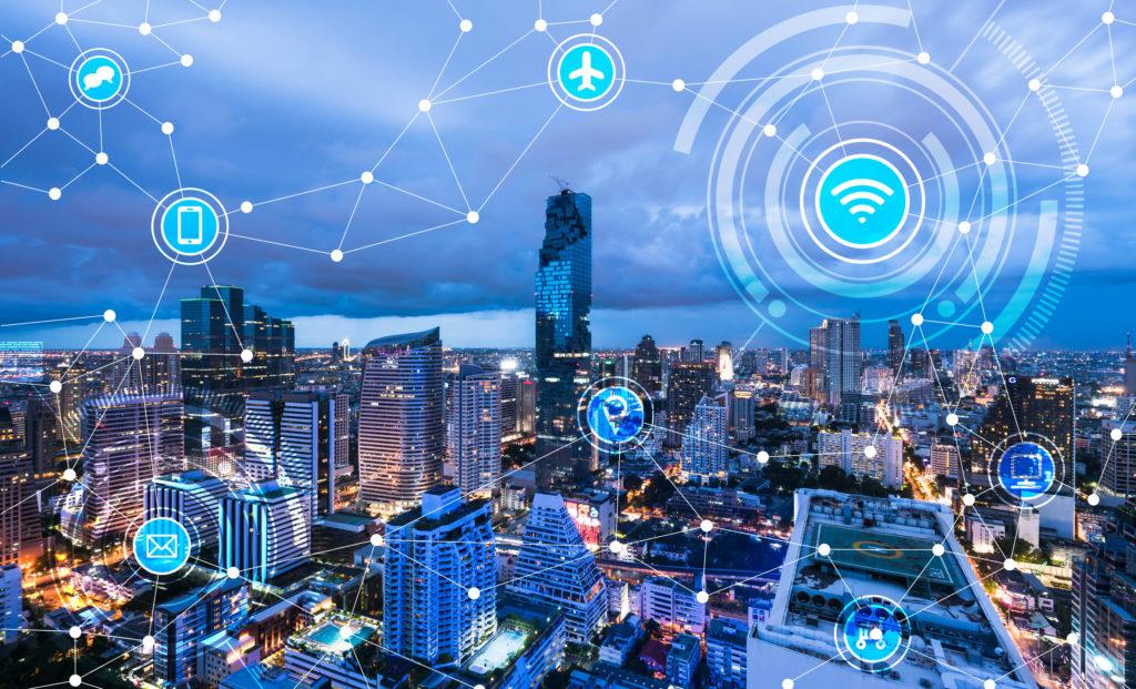都市とネットワークのイメージ