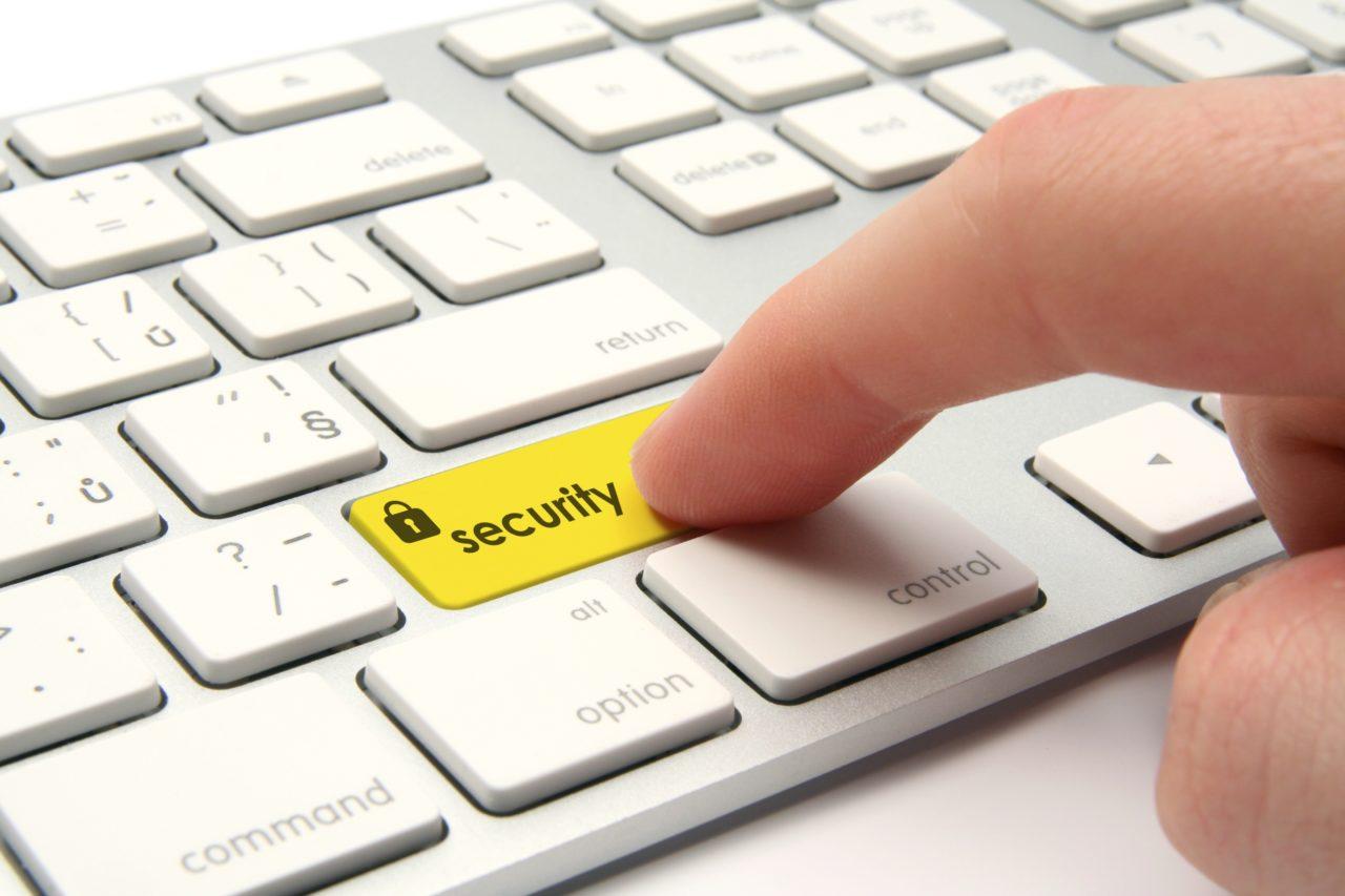 コンピュータのセキュリティボタン