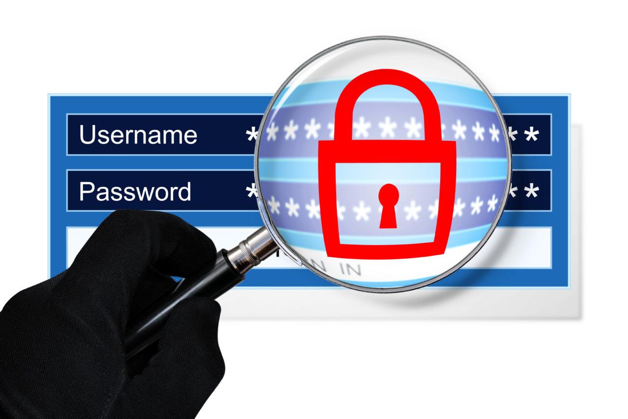 ユーザーネームとパスワードを覗く