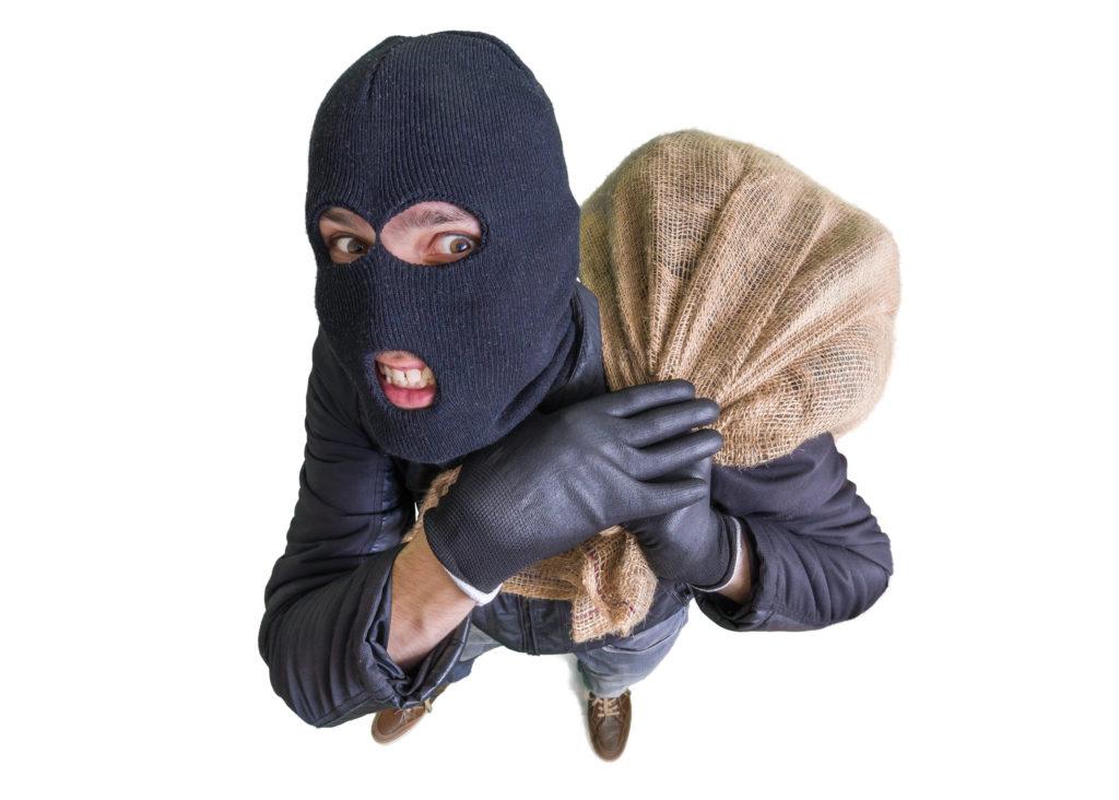 お金を持った強盗