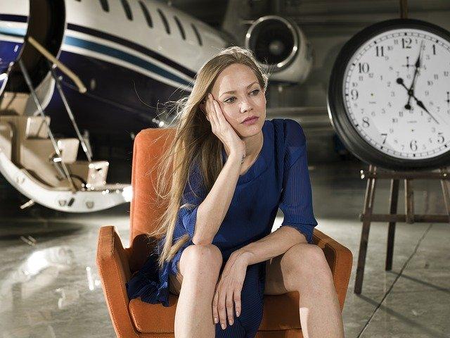 model, time, woman