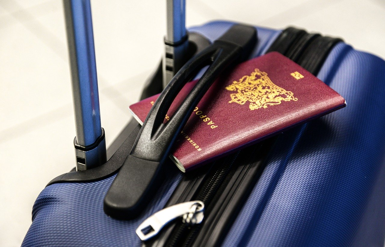 passport, luggage, trolley