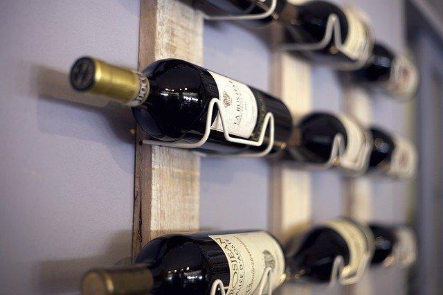 wine rack, shelf, wine