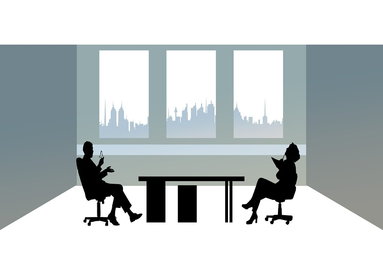 businessmen, office, silhouettes