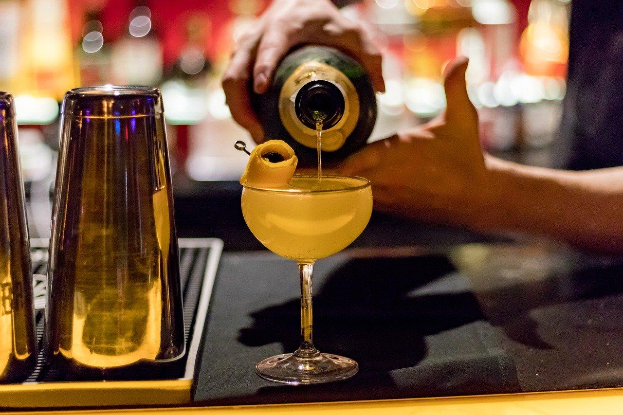 cocktail, pour, alcohol
