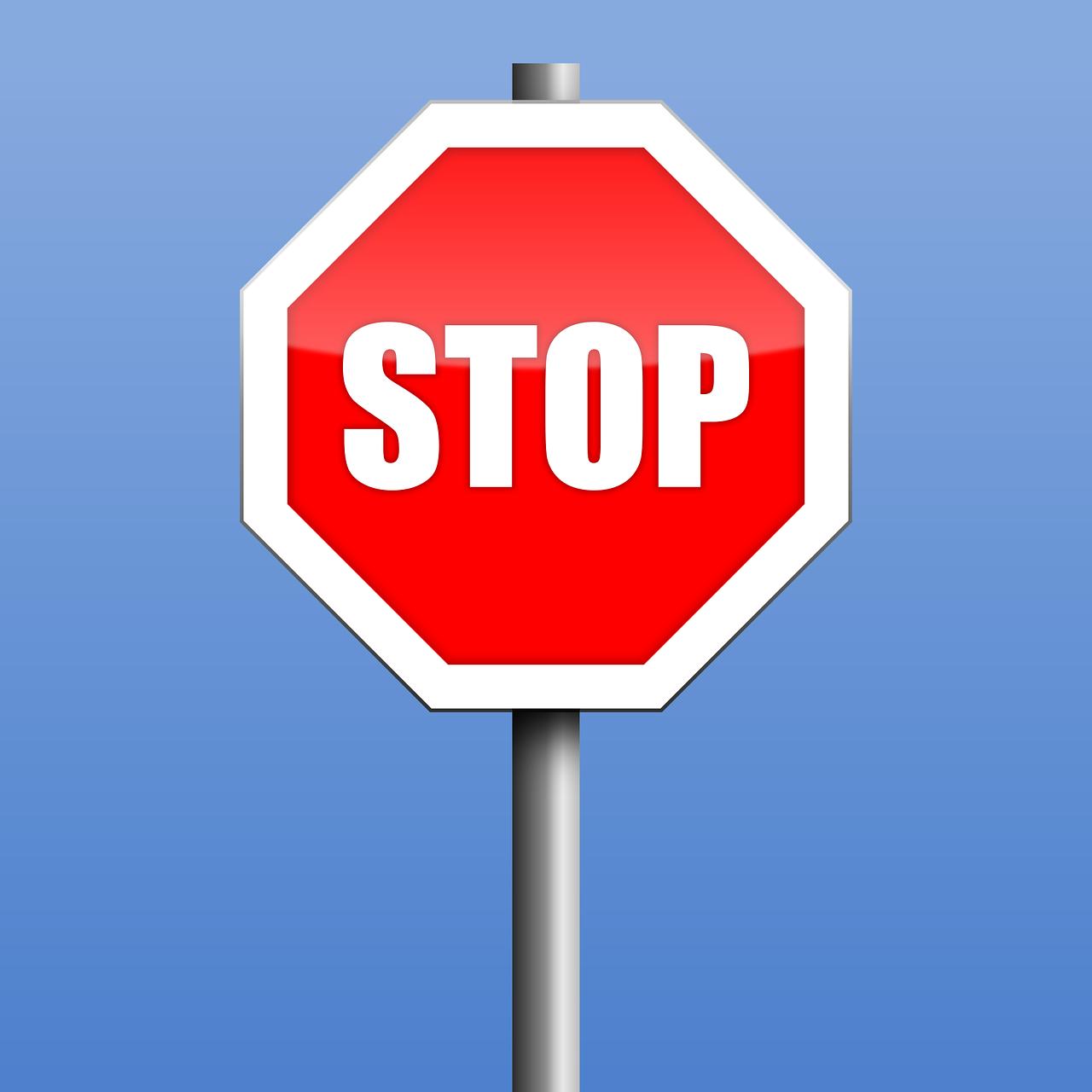 stop, road sign, warning