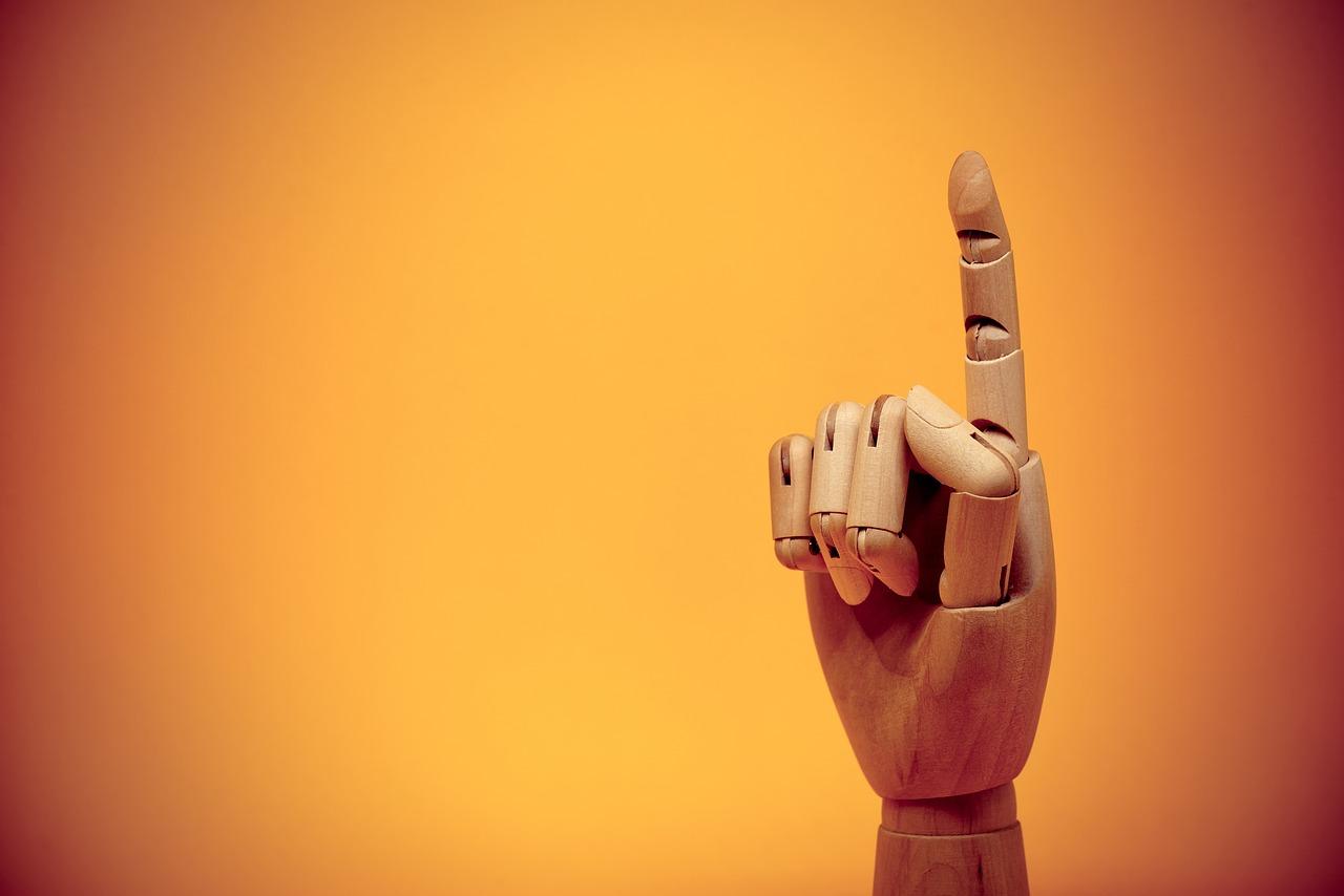 finger, forefinger, gesture