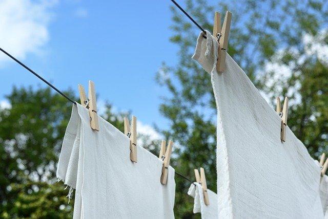白 洗濯物