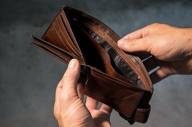 purse, wallet, money