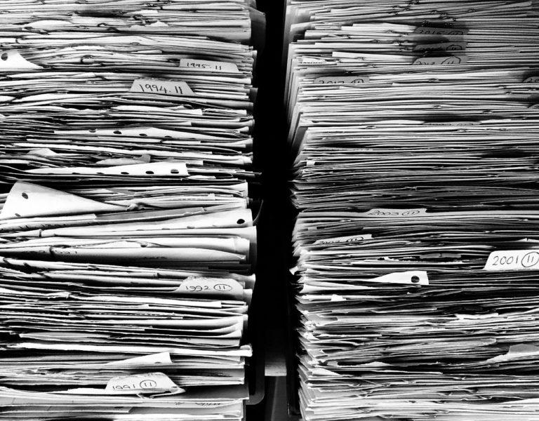 ファイル・紙・オフィス