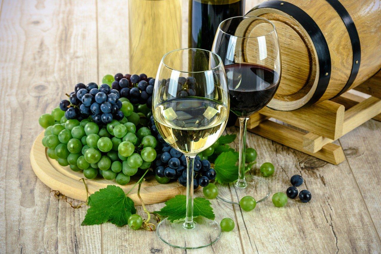wine, glass, white