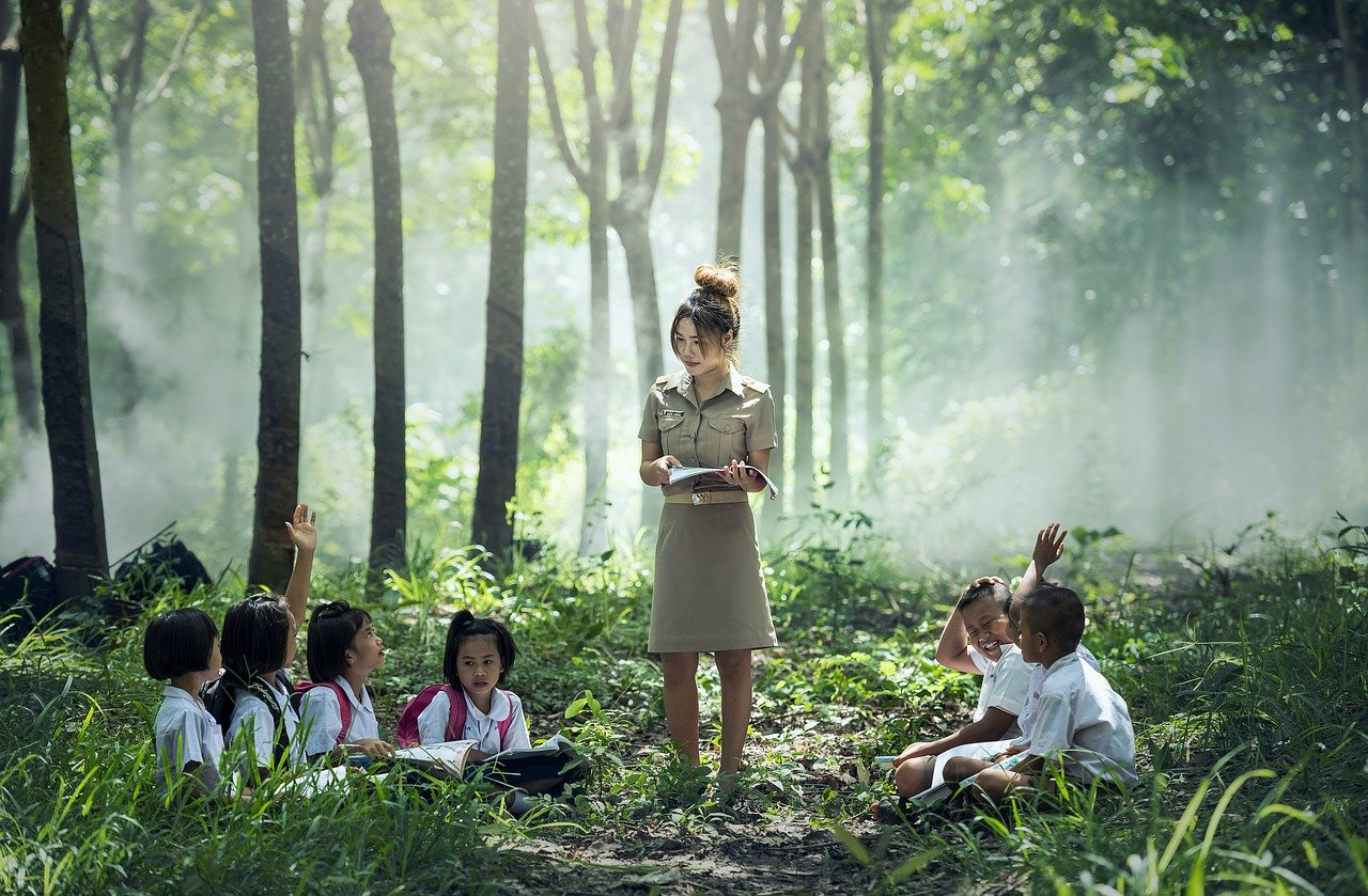 learning, school, outdoor