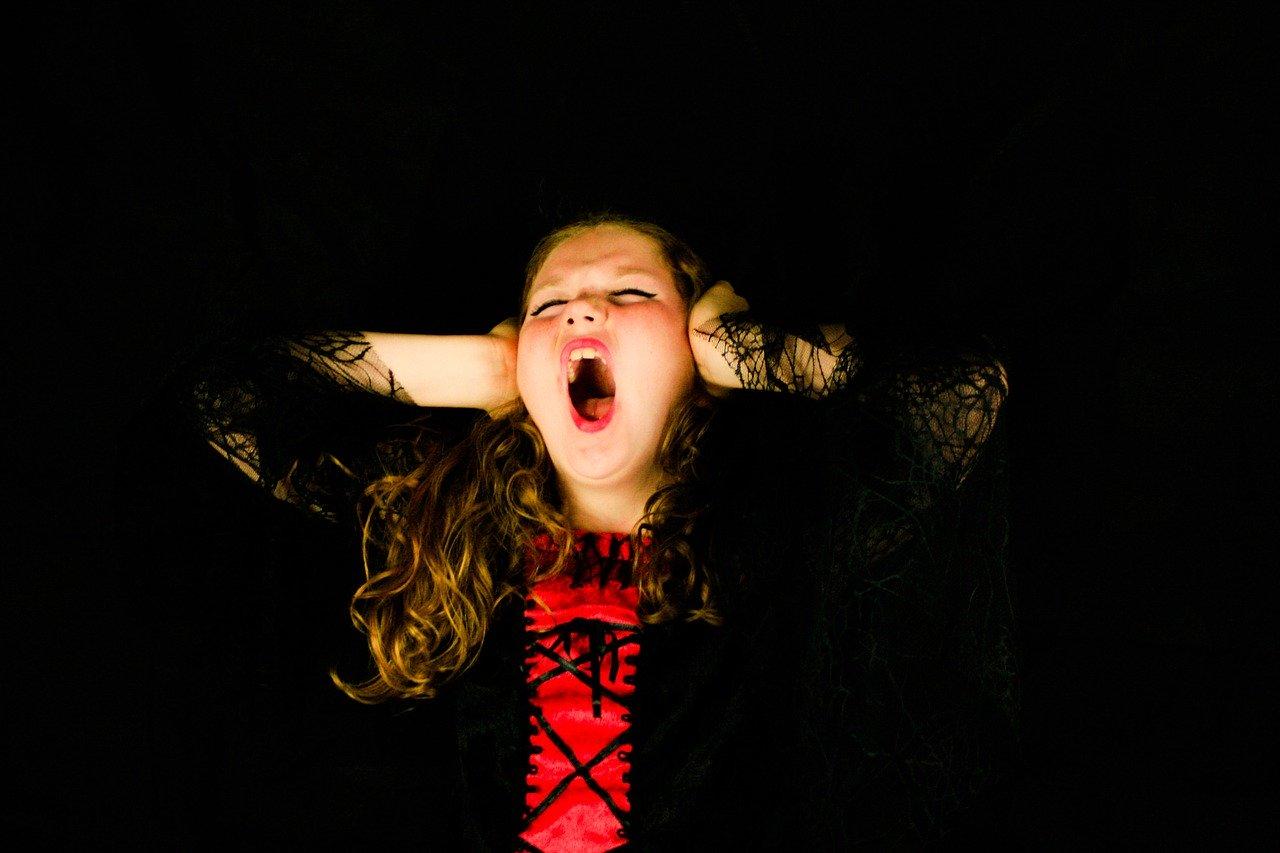 scream, child, girl