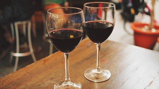 wine, glasses, outdoor