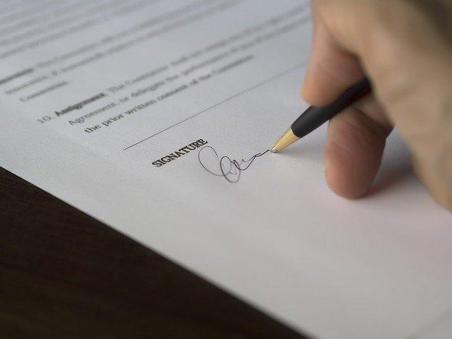 ビジネス サイン コンタクト