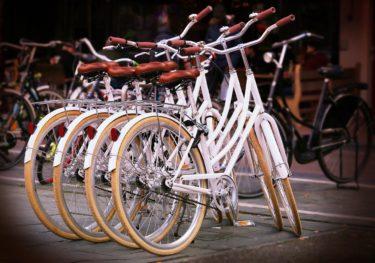 新品の自転車