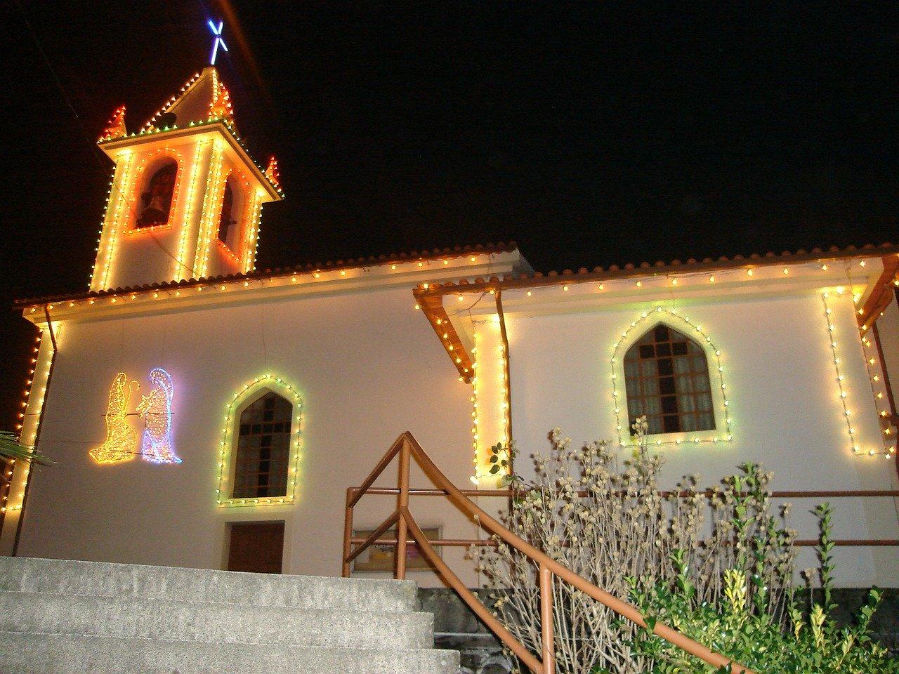 church, monument, christmas