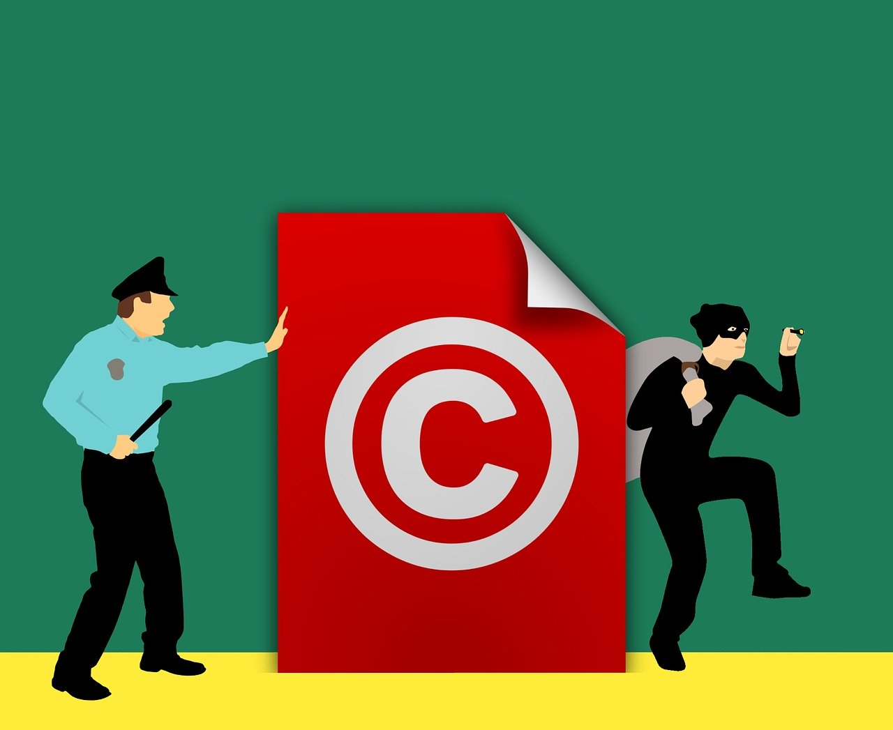 copyright, stealing, asset