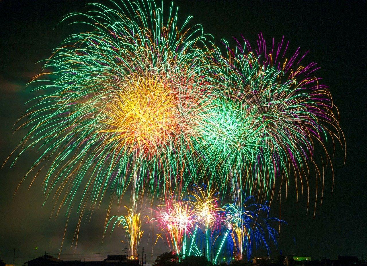 fireworks, light, festival