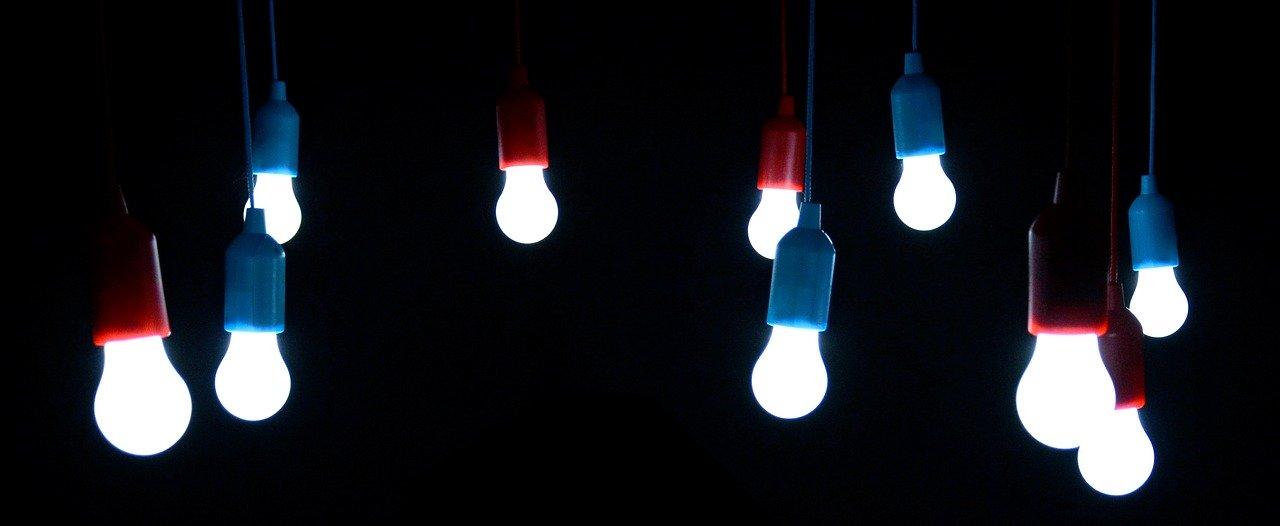 light bulbs, shining, bulbs