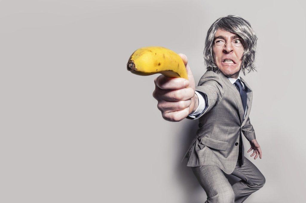 バナナを持つ男