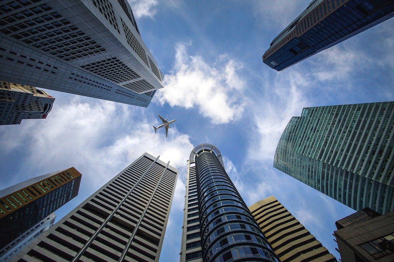 高層ビル シンガポール 空